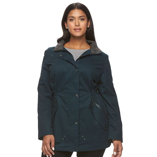 Plus Size MO-KA Hooded Anorak Jacket