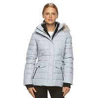 Women's Free Country Printed Faux-Fur Down Jacket