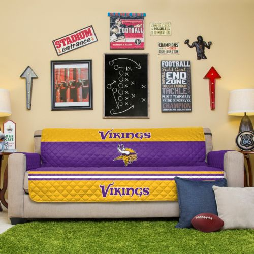 Minnesota Vikings Quilted Sofa Cover