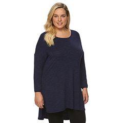 Plus Size Apt. 9® Drop Shoulder Tunic Shirt