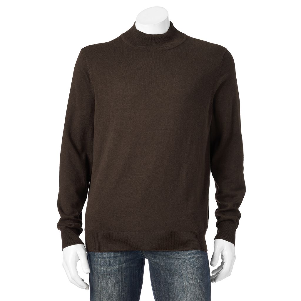 Men's Croft & Barrow® Classic-Fit 12gg Solid Mockneck Sweater