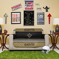 New Orleans Saints Quilted Loveseat Cover