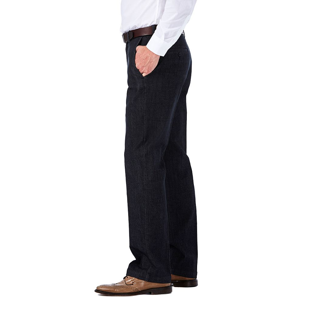 Men's Haggar Flat-Front Expandable Waist Stretch Jeans