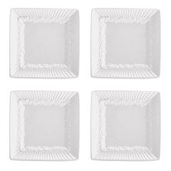 Mikasa Italian Countryside 4 pc Square Dip Plate Set