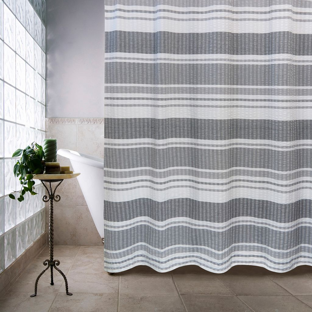Seersucker Multi Bands Shower Curtain