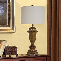 Catalina Faux-Wood LED Table Lamp