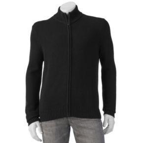 Men's Croft & Barrow® Classic-Fit 5GG Ribbed Full-Zip Sweater