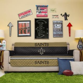 New Orleans Saints Quilted Sofa Cover