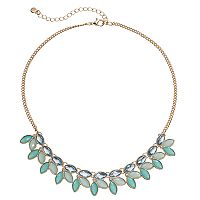 LC Lauren Conrad Blue Marquise Cluster Necklace