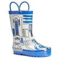 Western Chief Star Wars R2-D2 Toddler Boys' Waterproof Rain Boots
