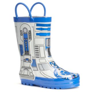 Western Chief Star Wars R2-D2 Toddler Boys' Waterproof Rain Boots