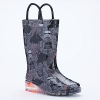 Western Chief Star Wars Dark Side Toddler Boys' Light-Up Waterproof Rain Boots