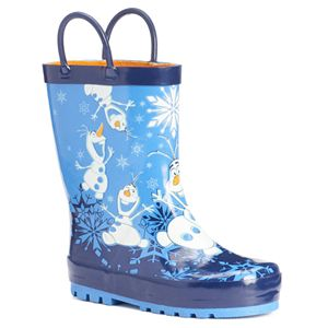 Western Chief Disney's Frozen Olaf Toddler Boys' Waterproof Rain Boots