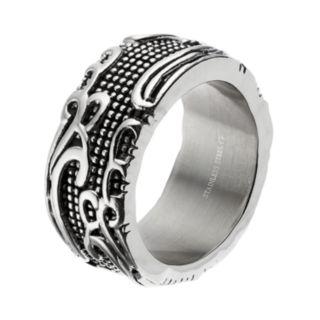 Men's Stainless Steel Filigree Ring