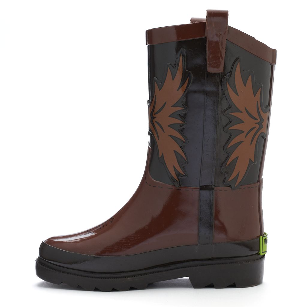 Western Chief Western Cowboy Toddler Boys' Waterproof Rain Boots