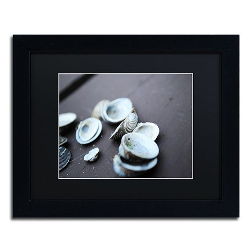 Trademark Fine Art Lei Black Framed Wall Art