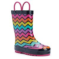 Western Chief Funny Stripe Toddler Girls' Waterproof Rain Boots