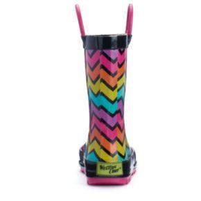 Western Chief Funny Stripe Toddler Girls' Waterproof Rain Boots