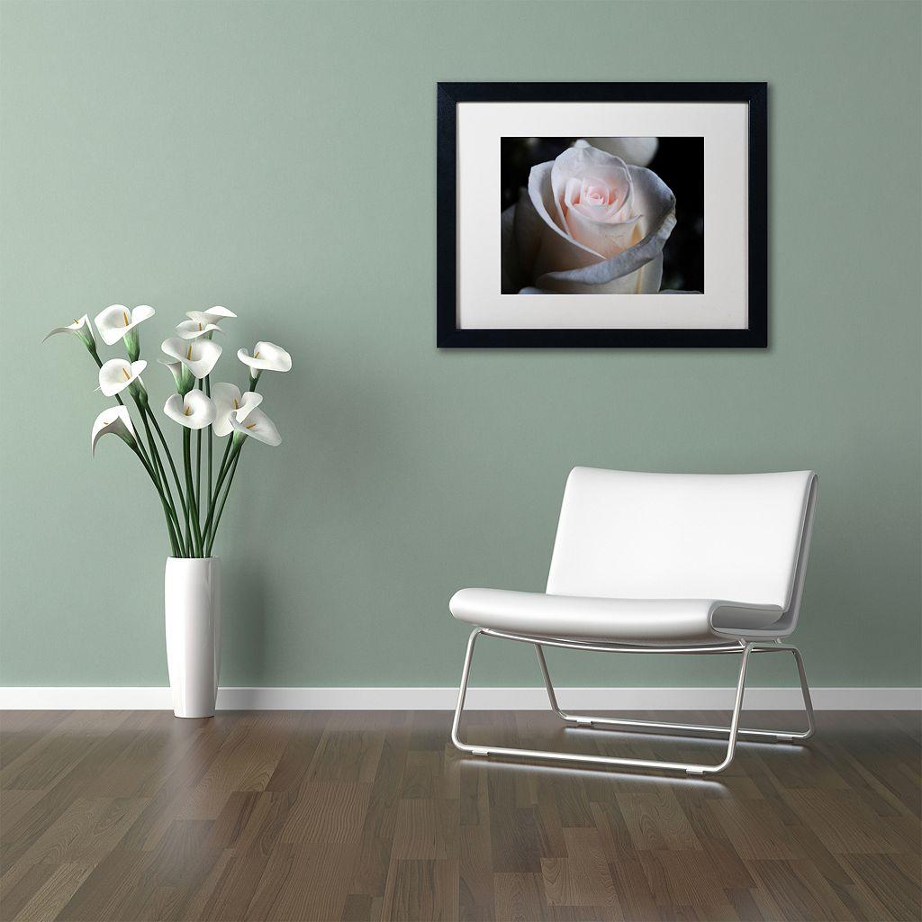 Trademark Fine Art Loyal Star Black Framed Wall Art