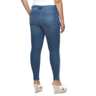 Plus Size Jennifer Lopez Colorblock Skinny Jeans
