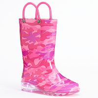 Western Chief Neo Camo Toddler Girls' Light-Up Waterproof Rain Boots