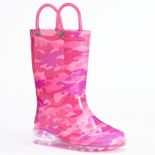 Western Chief Neo Camo Toddler Girls' Light-Up Waterproof Rain Boots