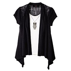 Girls 7-16 IZ Amy Byer Draped Mock-Layer Top