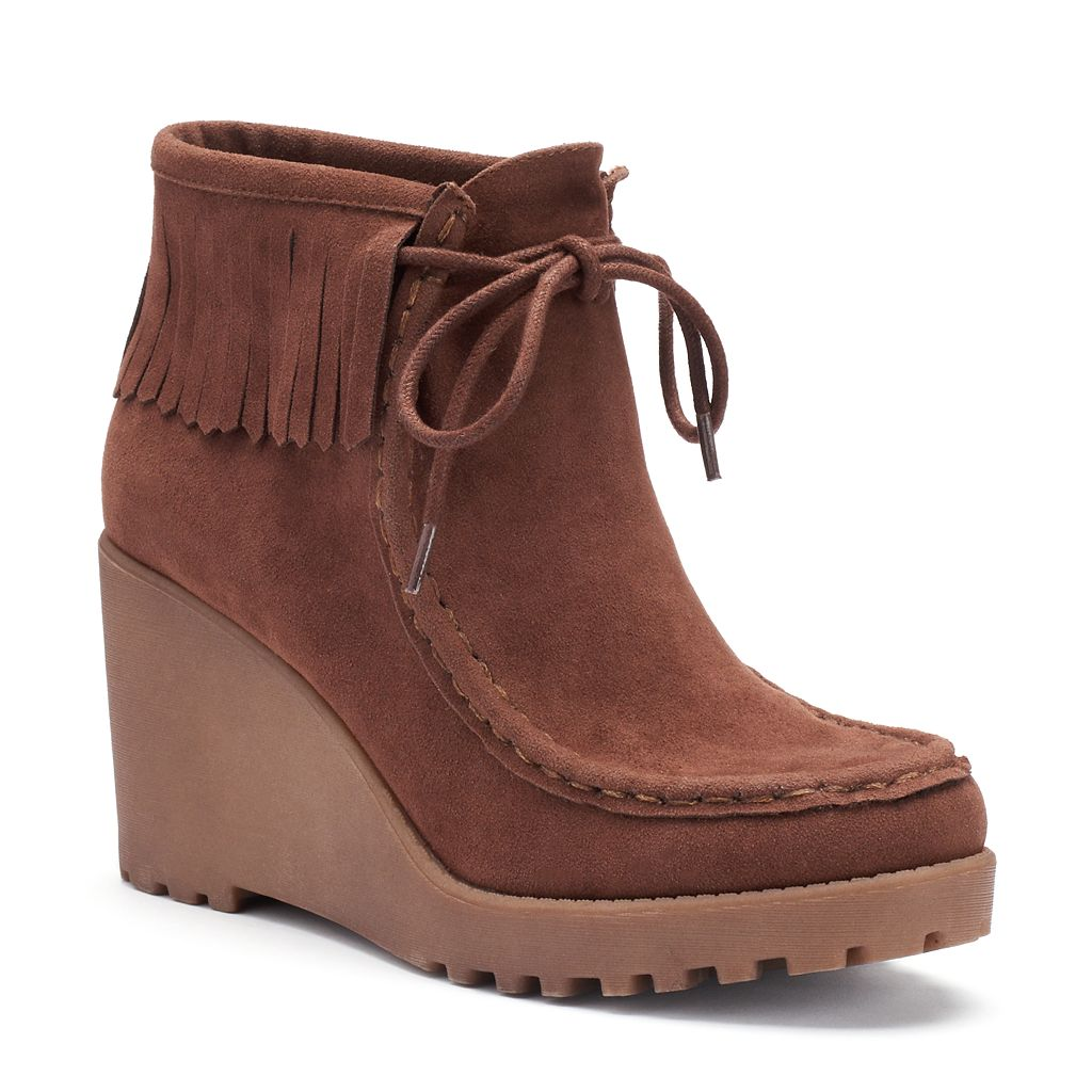 Unleashed by Rocket Dog Sissy Women's Wedge Moccasin Boots