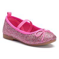 OshKosh B'gosh® Toddler Girls' Glitter Ballet Flats