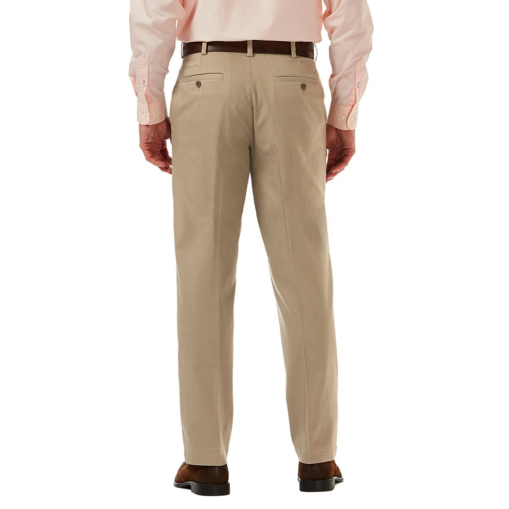 Men's Haggar Classic-Fit Textured Stretch Expandable Waistband Chino Pants