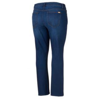 Plus Size Jennifer Lopez Slim Flare Jeans