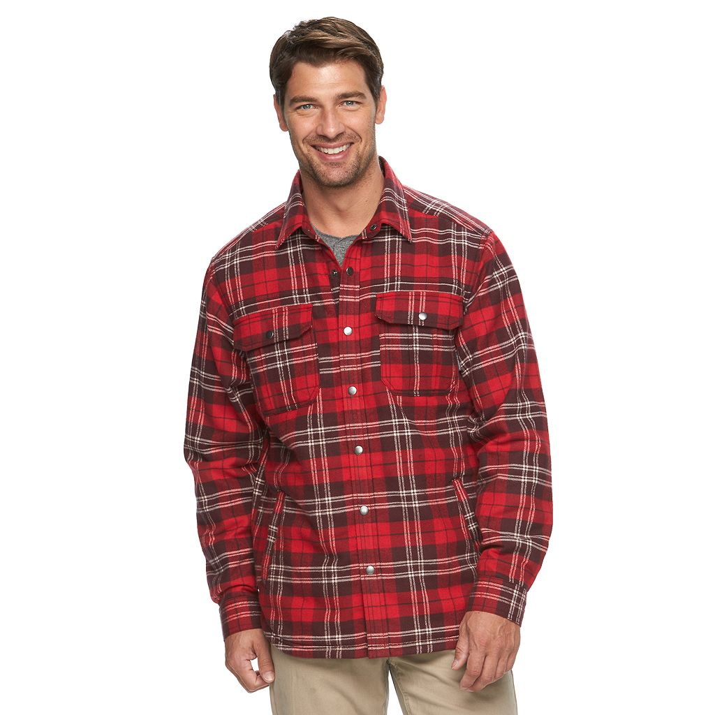 Men's Columbia Fireside Flame Classic-Fit Plaid Shirt Jacket