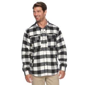 Men's Columbia Fireside Flame Classic-Fit Plaid Shirt Jacket