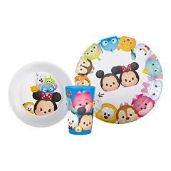 Disney's Tsum Tsum 3 pc Kid's Dinnerware Set