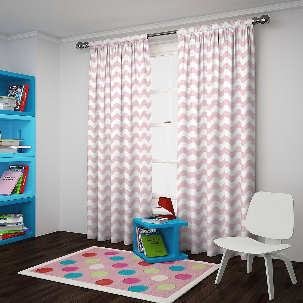 eclipse ThermaBack Wavy Chevron Blackout Window Curtain