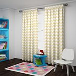 Eclipse Wavy Chevron Room-Darkening Window Curtain