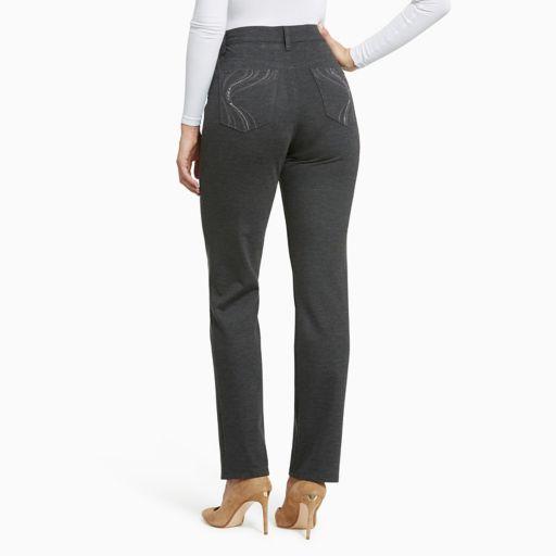 Women's Gloria Vanderbilt Amanda Slimming Tapered Ponte Pants