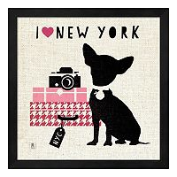 Metaverse Art NY Pooch Framed Wall Art