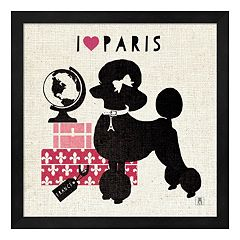 Metaverse Art Paris Pooch Framed Wall Art