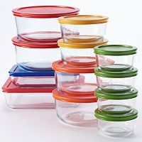 Pyrex 24-pc. Storage Set with Color Lids