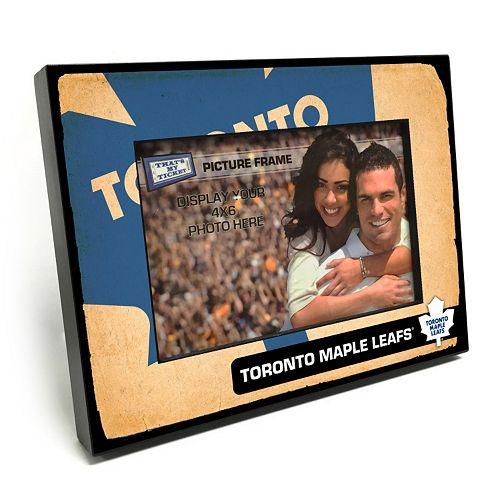 "Toronto Maple Leafs Vintage 4"" x 6"" Wooden Frame"