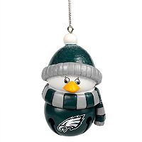 Forever Collectibles Philadelphia Eagles Penguin Bell Christmas Ornament