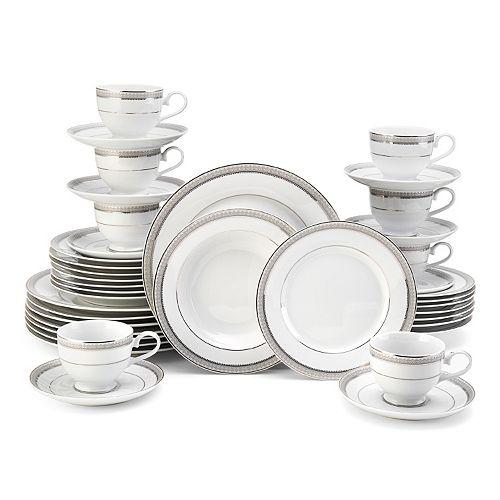 Mikasa Platinum Crown 40-pc. Dinnerware Set