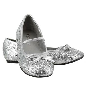 Kids Silver Sparkle Ballerina Shoes