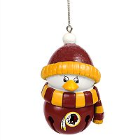 Forever Collectibles Washington Redskins Penguin Bell Christmas Ornament