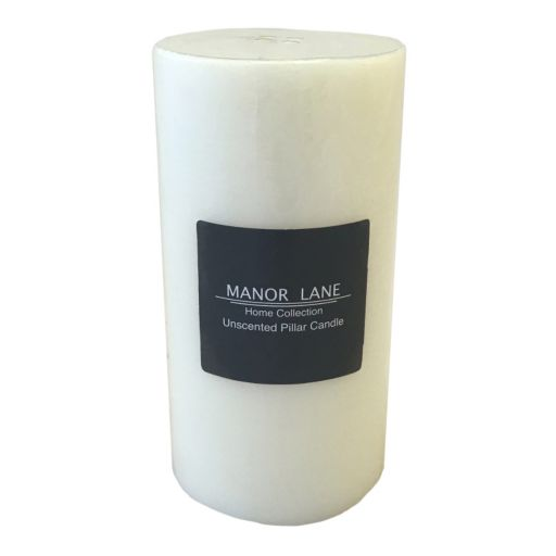 "Manor Lane 3"" x 6"" White Pillar Candle"