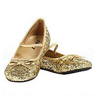 Kids Gold Sparkle Ballerina Shoes
