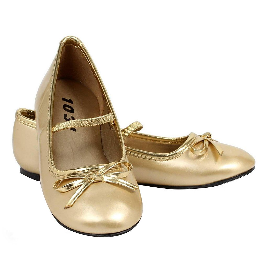 Kids Gold Costume Ballet Flats