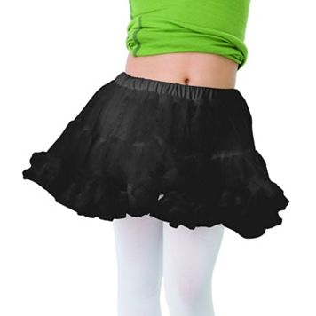 Kids Black Costume Petticoat