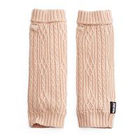 Women's MUK LUKS Plush Cable-Knit Arm Warmers